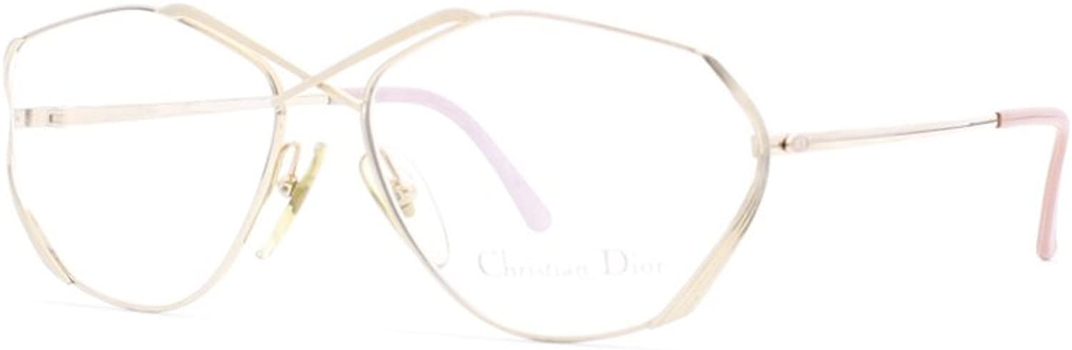 Christian Dior 2684 47 gold Authentic Women Vintage Eyeglasses Frame
