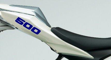 Par de 500 pegatinas de carenado tamaño motor 500 cc motocicleta (azul real)