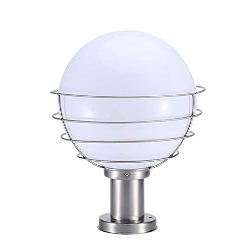 Lámparas de pared de calidad Lámpara de balón al aire libre de acero inoxidable Lámpara de bola de lámpara de acrílico Sombra Bola blanca Pilar Faro Moderno Moderno Impermeable Villa Villa Sun Mesa Lá