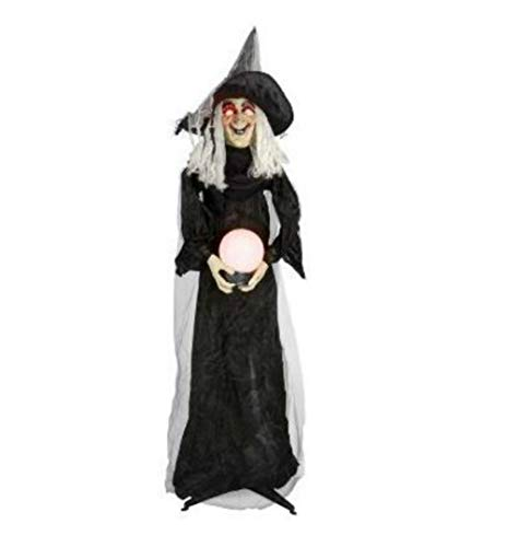 Nantucket 6' Animated Halloween Witch w/light up Crystal Ball Lighted...