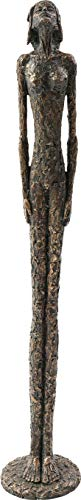 Kare Design Deko Objekt Art Lady 78cm, künstlerische Deko Skulptur in der Farbe Bronze, Schmale Dekofigut für das Wohnzimmer, (H/B/T) 78x13,5x13,5cm