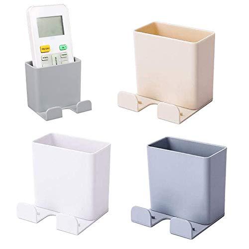 Dreiteilige selbstklebende Wand-Aufbewahrungsbox,Handy-Fernbedienungs-Aufbewahrungsbox,Wand-Handyhalter,Büro Schlafzimmer-Aufladebox für Mobiltelefone,Fernbedienungs-Aufbewahrungsbox (3 Farben)