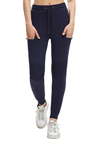 Extreme Pop Pantaloni Sportivi da Jogging da Donna Strappati Slim Brand Inglese (M, Marina Militare 4)