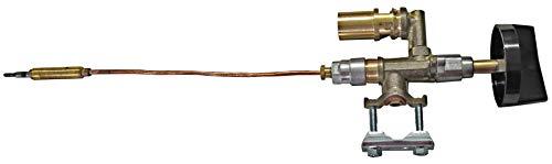 YOURGRILL Gashahn einbaufertig mit Thermoelement und Knebel Ersatzteil Gastrobräter Gasregler Gasgrill