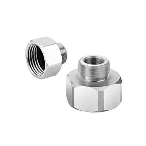 Vfauosit Brass Pipe Fitting, Water Hose Adapter, 3/8 inch Male x 1/2 inch Female water pipe adapter 3/8 to 1/2 pipe adapter Reducer Adapter 2 Pieces