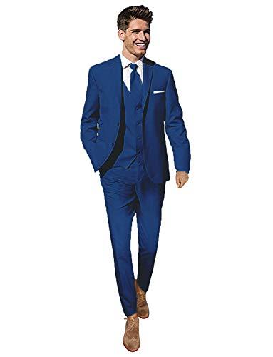 YYI Herren 3 Stücke Hochzeit Anzüge für Männer Business Männer Anzüge Bräutigam Formale Smoking