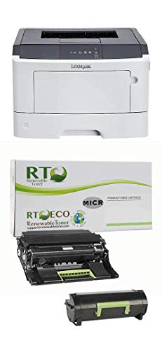 Renewable Toner 35SC060 MS317dn MICR Check Printer Bundle with 1 RT 50F0Z00...