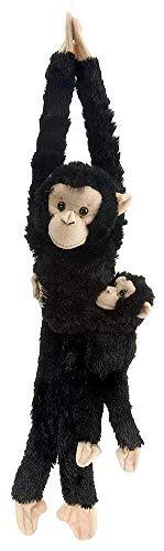 Wild Republic 14482 Republic 15265 - Plüschtier - Hanging Monkey - Schimpanse, Mama mit Baby, 51 cm
