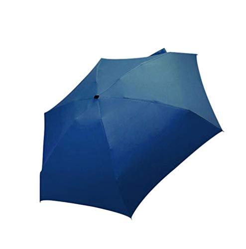 CKY Flat Lightweight Umbrella Sonnenschirm Faltbarer Sonnenschirm Sombrilla Parapluie Sonnenschirm, Marineblau