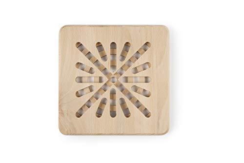 Excelsa Real Wood Sottopentola Quadro, 20 x 20 cm, Marrone