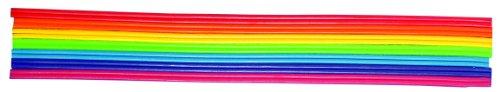 Rayher Hobby 3107800  Wachs-Zierstreifen Regenbogen, 2 mm, 23 cm, SB-Beutel 14  Stück