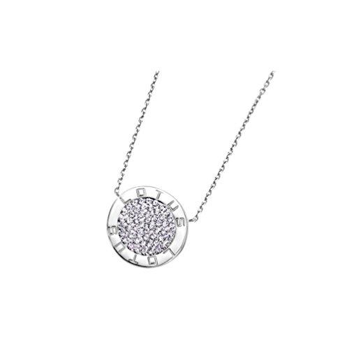Lotus Silver - Colgante de plata rodiada con zirconitas - LP1252-1/1