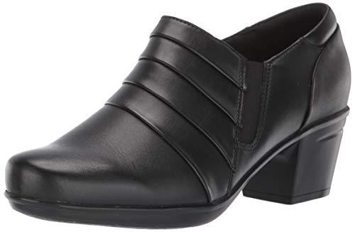 Clarks Women's Emslie Guide Pump, Black Leather, 65 M US