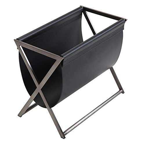 Revisteros Decorativos Estante De Revistas Estante De Metal para El Hogar Estante De Almacenamiento De Cuero para Sala De Estar Sofá Mesa Auxiliar Conveniente para Mover