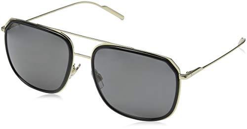 Dolce & Gabbana 0DG2165 488/81 58 Occhiali da Sole, Nero (Black/Pale Gold/Polargrey), Uomo