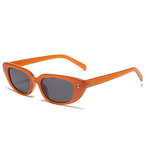 AMFG Gafas de sol retro hembra Tendencia Pequeño Marco Sunglasses Hombre Driving Mirror (Color : E)
