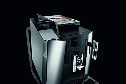 Jura 15145 Automatic Coffee Machine WE8, Chrome 11 ONE TOUCH: Prepare 12 barista quality specialties including perfect espresso with JURA's exclusive Pulse Extraction Process, coffee, cappuccino, flat white and latte macchiato at the touch of a button CONICAL BURR GRINDER: Fast and precise AromaG3 grinder grinds whole beans to the optimum fineness ECO FRIENDLY: JURA is always freshly ground, not capsuled - fresh taste with very limited waste - single serve machine