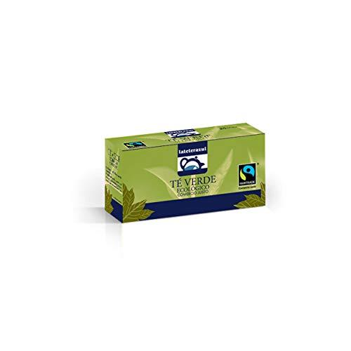 LA TETERA AZUL 150 Bolsitas De Té Verde Orgánico Con Hierbabuena. Té Verde Ecológico Moruno Estilo Árabe Marroquí. 150 Bolsitas De 1,5 Gramos.