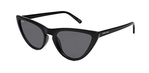 Gafas de sol marca Polar modelo Peach color negro de acetato con lentes polarizadas grises