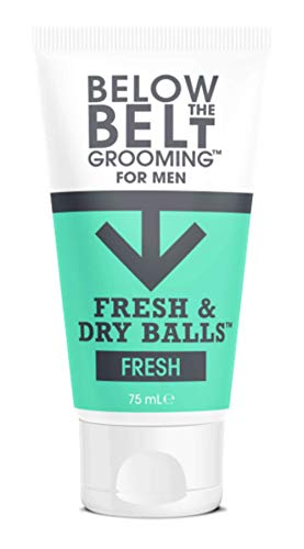 Below The Belt Grooming Fresh & Dry Balls - Intimate Deodorant For Men - Protects against Sweat, Odour and Chafing - Fresh Scent 75ml