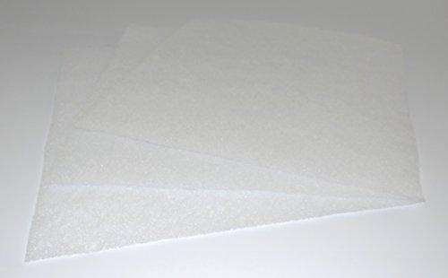 Filterrolle Vorfilter G2 Filter 10mx1m ca. 1-3 mm dick - Circa 50g/m² - Filtervlies Lüftung Heizung Kompressor Klima Dunstabzugshaube Badlüfter Lüfter Insektenschutz