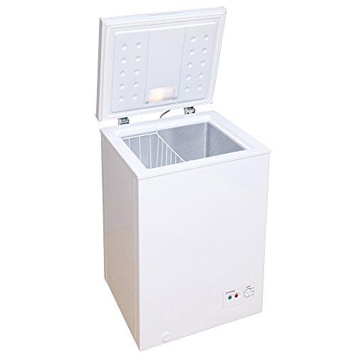 アイリスオーヤマ 冷凍庫 家庭用 小型 業務用 ストッカー 上開き PF-A100TD-W 安い 肉 魚 野菜 冷凍食品 100L(7088062) :予約品