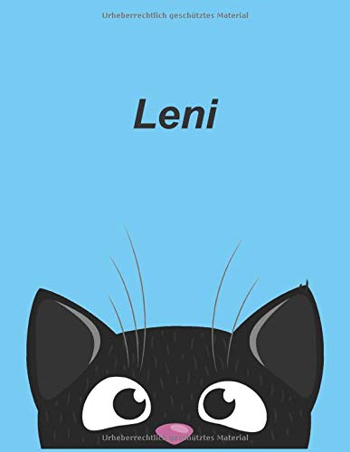 Personalisiertes Notizbuch: Leni - über 100 Seiten, liniert im A4+ Format