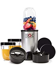 Magic Bullet 400 Watts, 11 Piece Set, Multi-Function High Speed Blender, Mixer System with Nutrient Extractor, Smoothie Maker, Silver, 2 Years Warranty