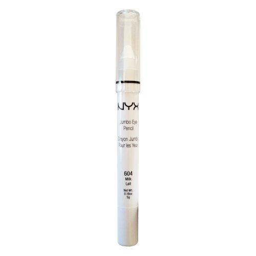 NYX Crayon Jumbo Eye Pencil Shadow 604 Milk Lait - White Net Wt. 0.18 oz. 5g (0.18 Ounce Net)