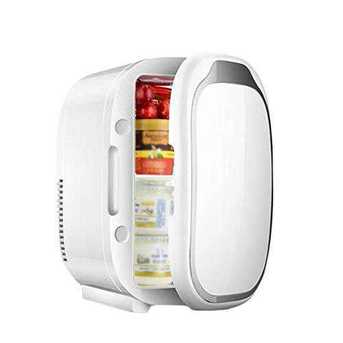 Mini Frigorífico, 6L Mini Refrigerador De Automóviles Con Función De Calentamiento Y Refrigeración, Pequeña Nevera Portátil Para Bebidas Bocadillos Skining Products 20 * 26.5 * 30cm(Color:blanco)