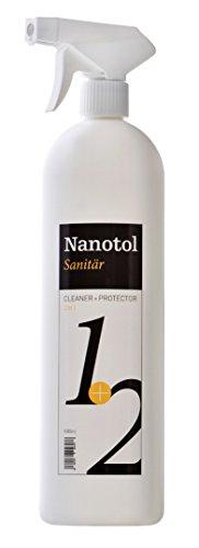Nanotol Sanitär 1+2, Hybrid Profi Badreiniger mit Lotuseffekt, reinigt, entkalkt und versiegelt gleichzeitig NS21-6 (1000 ml)