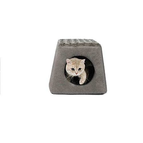 FANQIECHAODAN Best Pet Supplies Cave/Tent Bed for Pets Four Seasons are Available,It is A Tent Nest,and It is A Cushion Nest (Color : Black)