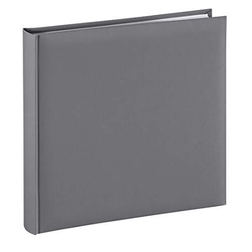 Hama Fotoalbum Jumbo 30x30 cm (Fotobuch mit 80 weißen Seiten, Album für 320 Fotos zum Selbstgestalten und Einkleben) grau
