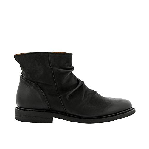 Fiorentini + Baker Wrinkled Vamp Velvet Leather Ankle Boot Black