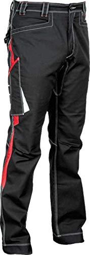 48205 Arbeitshose Modell Montijo, Kollektion Ergowear von Cofra, schwarz/rot (48)