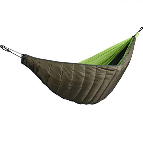 Nealpar Saco de Dormir Ultraligero Acampar al Aire Libre algodón portátil edredón de Invierno cálido Hamaca cálido Manta edredón