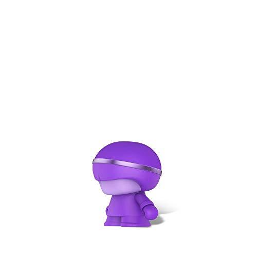 Mini Altavoz Bluetooth de Metal Xoopar Boy - Altavoz inalámbrico - Altavoz ultracompacto con diseño Art Toy - Altavoz inalámbrico de 3 W - Mini Altavoz portátil y nómada Conectado (Purple)