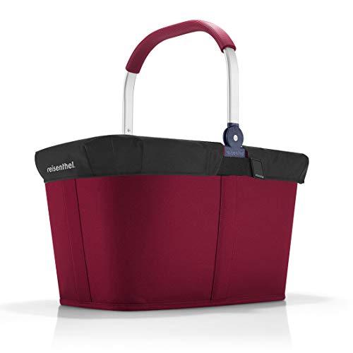reisenthel Angebot Einkaufskorb carrybag Plus passendes Cover Sichtschutz Abdeckung (Dark Ruby)
