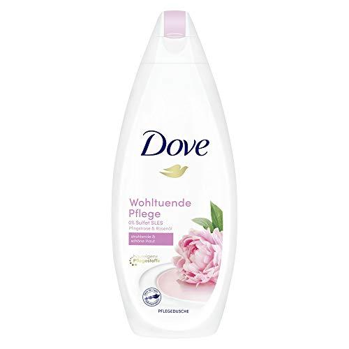Dove Pure Verwöhnung Cremige Pflege und Pfingstrosenduft Duschgel Pflegedusche, 6er Pack(6 x 250 ml)