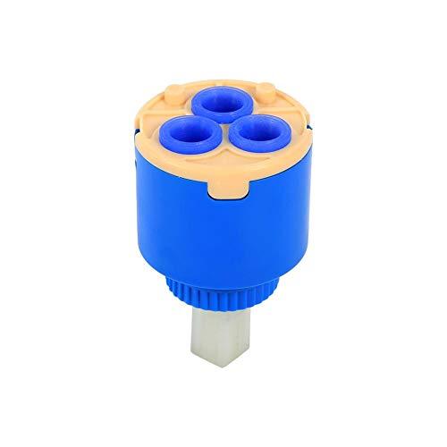 Acogedor Keramik-Kartusche, PP Kunststoff Einhebelmischer Wasserhahn Kartusche Ersatz Waschbecken Dusche Einhebelmischer,35 / 40mm(40mm)