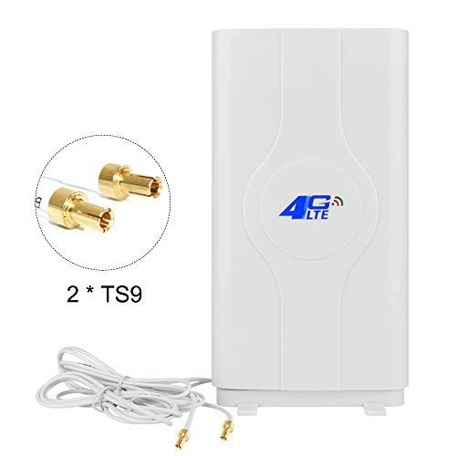 NETVIP 4G Antenne TS9 High Gain 4G LTE Antenne Mimo Dual WiFi Amplificateur de Signal Réseau pour WiFi Routeur Téléphonie Mobile à Large Bande Antenne à Longue Portée avec Connecteur TS9 Câble