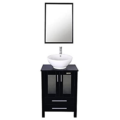 "eclife 24"" Bathroom Vanity Sink Combo Above Counter Lavatory Vanity Cabinet Contemporary Style"