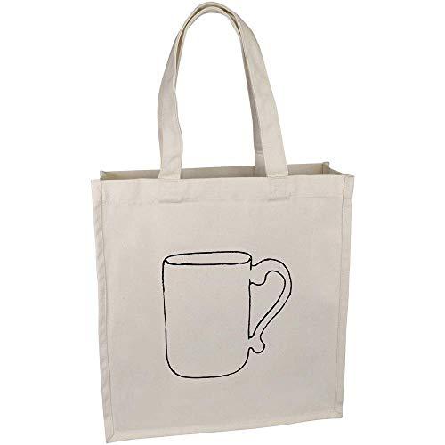 Azeeda 'Kaffeebecher' Tragetasche aus Baumwolle (BG00019918)