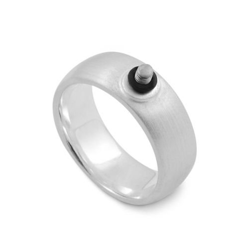 Ring Ding- Ring rund Ring 7,5mm breit, Schraubgewinde 4355810