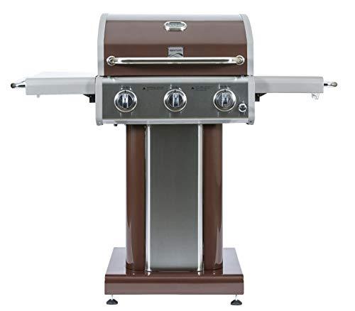 Kenmore PG-4030400L-AM 3 Burner Outdoor Patio Gas BBQ Propane Grill, Dark Mocha