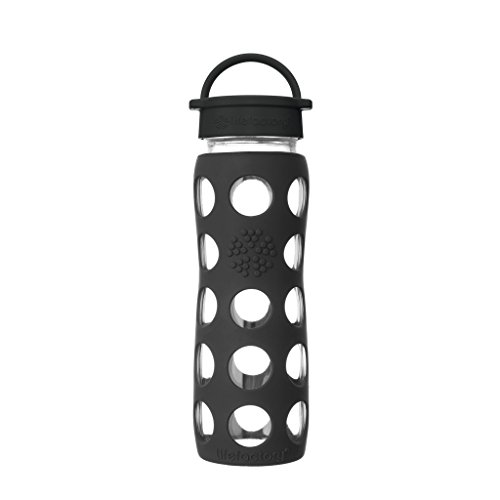 Lifefactory 9 oz BPA-Free Glass Baby Bottle BLUEBERRY Protective Silicone Sleeve