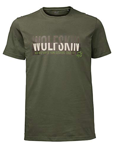 Jack Wolfskin Slogan T Men T-Shirt Homme Woodland Green FR : S (Taille Fabricant : S)