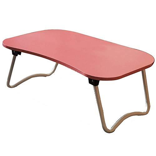 LF- Notebook Pieghevole Computer Desk Solida casa Writing Desk Legno Scrivania Scrivania Appartamento Piccolo Mobili Convenienza (Color : Pink, Size : 40 * 60 * 28cm)