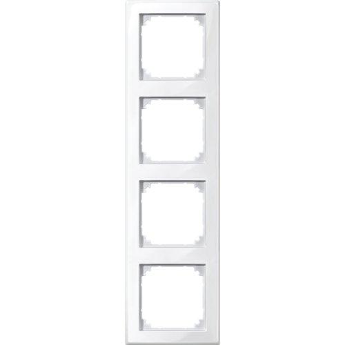 Merten 478419 M-SMART-Rahmen, 4fach, polarweiß glänzend