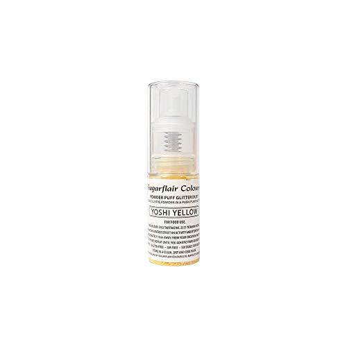 Sugarflair Comestible Polvo Soplo No-Aerosol Spray de Brillo - YOSHI AMARILLO